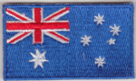 Australia Embroidered Flag Patch, style 04.